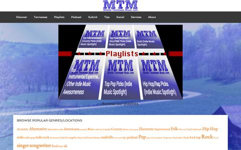 Screenshot of Home Page midtnmusic.com - Middle Tennessee Music – Indie Music News, Reviews, Interviews, Videos and How-Tos - captured Oct. 18, 2018
