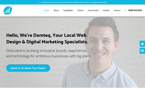 Web Design Hampshire | Damteq | Specialist Digital Marketing & SEO