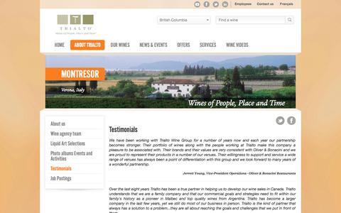 Screenshot of Testimonials Page trialto.com - Testimonials - Trialto - captured Nov. 5, 2014
