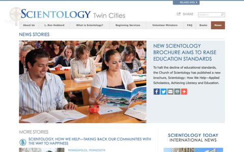 Screenshot of Press Page scientology-twincities.org - News - captured Oct. 31, 2018