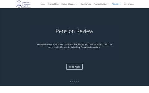 Screenshot of Case Studies Page miadvice.co.uk - Independent Financial Advisors in Wolverhampton Pension Advice - captured Oct. 18, 2017