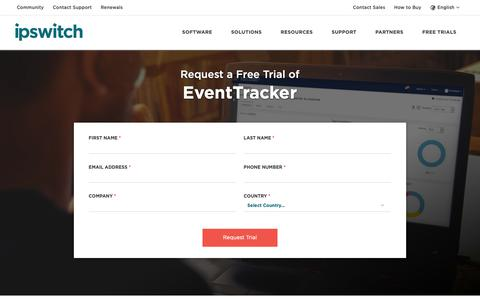 Screenshot of Trial Page ipswitch.com - Free Trials Of Network Monitoring and Secure File Transfer Software - Ipswitch - captured Sept. 26, 2018