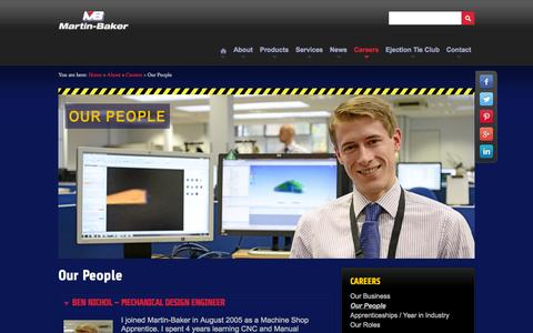 Screenshot of Team Page martin-baker.com - Our People - captured Oct. 27, 2014
