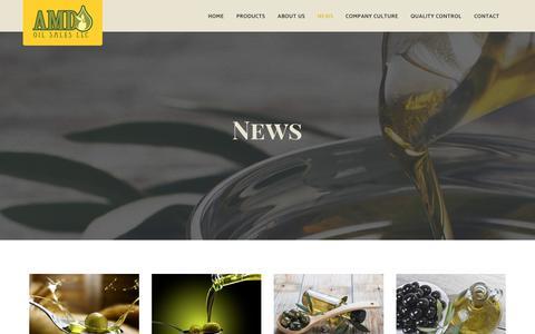 Screenshot of Press Page amdoilsales.com - News - AMD Oil Sales - captured Oct. 2, 2018