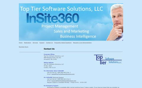 Screenshot of Contact Page toptiersoftwaresolutions.com - Top Tier Software Solutions - Contact Us - captured Oct. 27, 2017