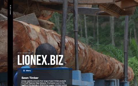 Screenshot of Products Page lionex.biz - Products - captured Oct. 8, 2014