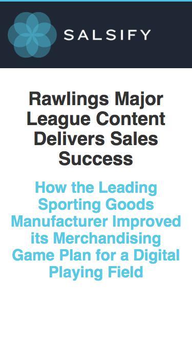 Case Study - Rawlings Merchandising Game Plan