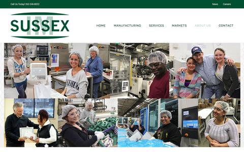 Screenshot of About Page sussexim.com - About Sussex IM | Injection Molding Company | Automated In Cycle Assembly - captured Sept. 21, 2018