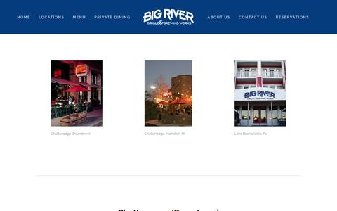 Screenshot of Locations Page bigrivergrille.com - Locations — Big River Grille & Brewing Works - captured Nov. 6, 2018