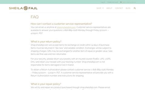 Screenshot of FAQ Page sheilafajl.com - FAQ – Sheila Fajl - captured Nov. 18, 2016