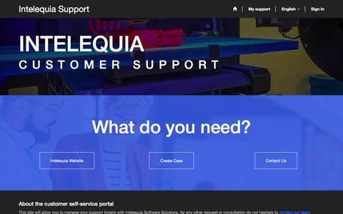 Screenshot of Support Page intelequia.com - Homepage· Autoservicio de clientes - captured Oct. 15, 2017