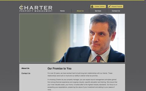 Screenshot of About Page charterpm.ca - Our Promise to You | Charter PM - captured Oct. 2, 2014