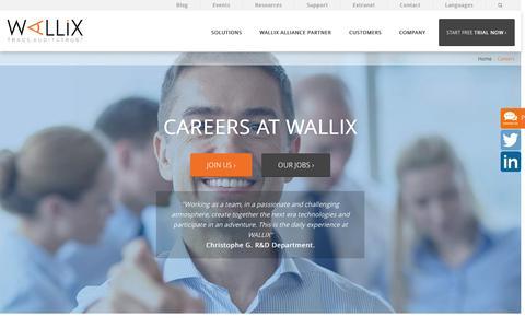 Screenshot of Jobs Page wallix.com - Careers - Wallix - captured Dec. 6, 2016