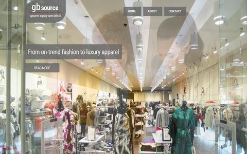 Screenshot of Home Page gbsource.co.uk - GB Source | Apparel Sourcing Services - captured Oct. 8, 2014