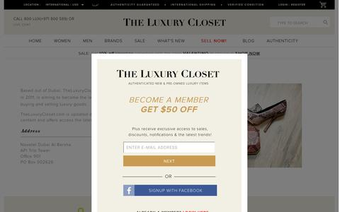 Screenshot of About Page Contact Page theluxurycloset.com - Who Are We? - captured Feb. 9, 2016