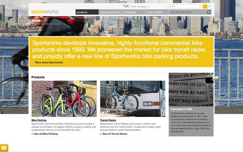 Screenshot of Products Page sportworks.com - Commercial Bike Products – Sportworks - captured Sept. 30, 2014