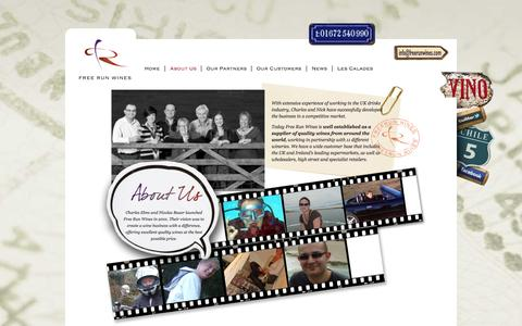 Screenshot of About Page freerunwines.com - About Us - captured Oct. 6, 2014