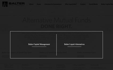 Screenshot of Home Page balterliquidalts.com - Balter Liquid Alternatives - captured Dec. 18, 2018