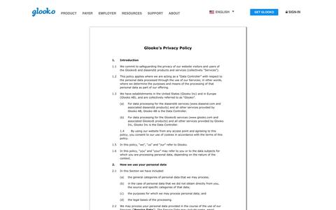 Privacy Policy - Glooko | Diabetes Remote Monitoring | Population Management , Glooko | Diabetes Remote Monitoring | Population Management