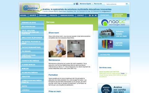 Screenshot of Services Page aratice.fr - Aratice - captured Oct. 28, 2014