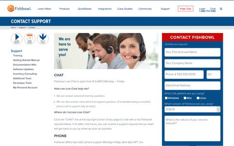 Contact Support | Fishbowl