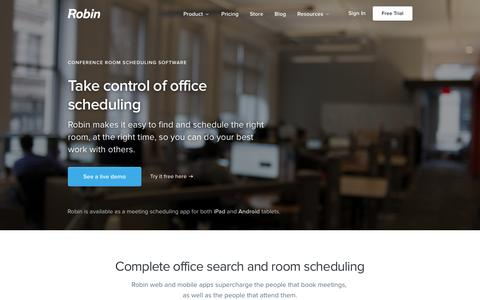Conference room scheduling software - Robin