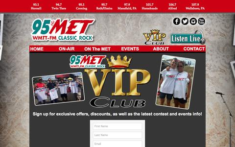 Screenshot of Signup Page 95themet.com - Sign Up - captured March 12, 2017