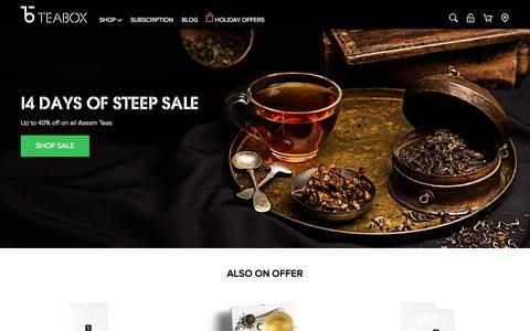 Screenshot of Home Page teabox.com - Tea, Buy Tea Online   Teabox - captured Nov. 18, 2015