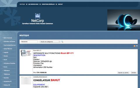 Screenshot of Home Page netcorpnc.com - NetCorp - Boutique - captured Sept. 30, 2014
