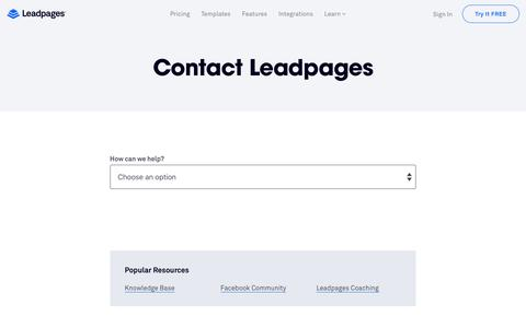 Leadpages® Contact