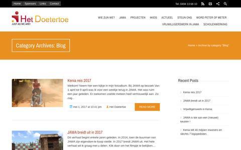Screenshot of Blog hetdoetertoe.be - Blog Archives - Het Doetertoe - captured May 18, 2017