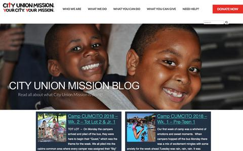 Screenshot of Blog cityunionmission.org captured July 18, 2018