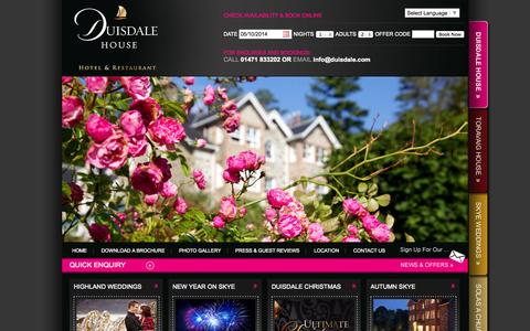 Screenshot of Jobs Page duisdale.com - Duisdale Hotel Skye | Skye Accommodation | Skye Hotels - captured Oct. 5, 2014