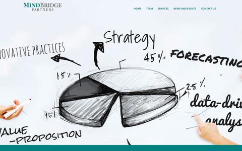 Screenshot of Home Page mindbridgepartners.com - MindBridge Partners - captured June 11, 2017