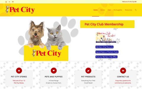 Screenshot of Home Page petcitywa.com.au - Pet City HomePage - captured Jan. 27, 2016