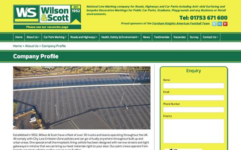 Screenshot of About Page wilsonandscott.co.uk - Wilson & Scott - Company Profile - captured Oct. 9, 2014