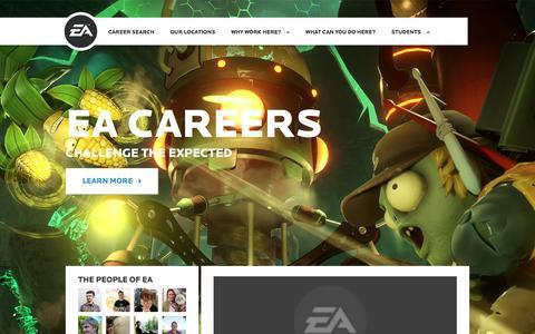 Screenshot of Jobs Page ea.com - Home | EA Careers - captured Jan. 13, 2016