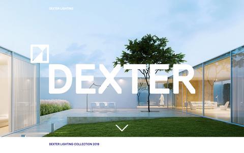 Screenshot of Home Page dexterlighting.nl - Dexter Lighting   Exclusive Outdoor Lighting   Rotterdam - captured Oct. 8, 2018