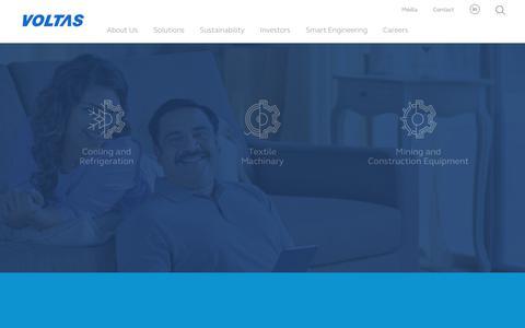 Screenshot of Products Page voltas.com - Voltas - captured Nov. 16, 2018
