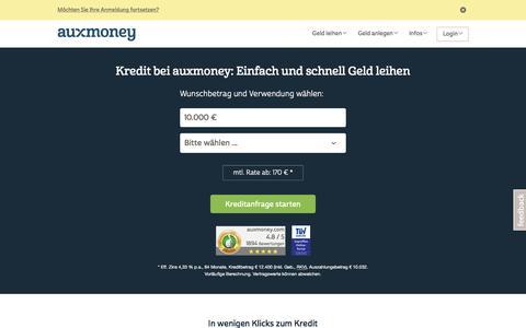 Kredit bei auxmoney: Jetzt Kreditanfrage starten!
