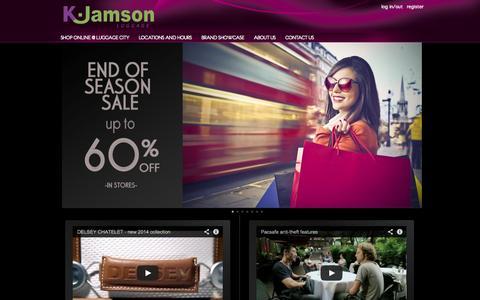 Screenshot of Home Page kjamson.com - K.Jamson - K.Jamson - captured Sept. 19, 2014