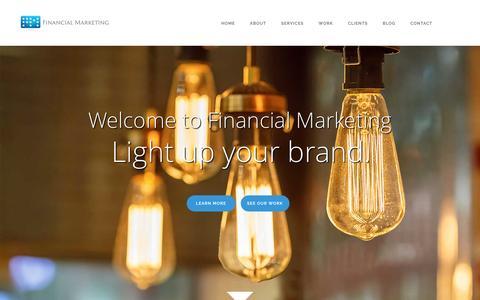 Screenshot of Home Page financialmarketing.com - Financial Marketing | A Full Service Marketing Agency - captured Feb. 10, 2016
