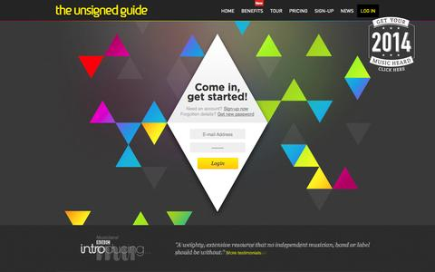 Screenshot of Login Page theunsignedguide.com - Login - The Unsigned Guide - captured Sept. 19, 2014