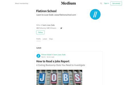 Flatiron School – Medium