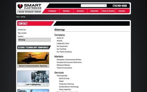 Screenshot of Site Map Page smartelec.com - Sitemap » Smart Electronics - captured Oct. 9, 2014