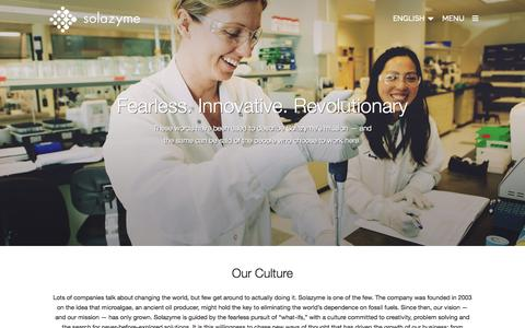 Screenshot of Jobs Page solazyme.com - Careers & Culture | Solazyme - captured Oct. 28, 2014
