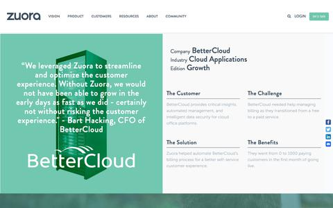 Screenshot of Case Studies Page zuora.com - BetterCloud Case Study - Zuora - captured Sept. 11, 2017