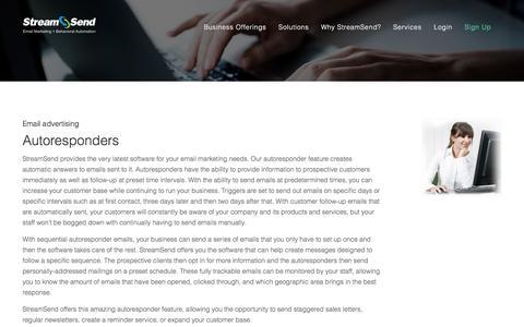 Email Autoresponders - StreamSend
