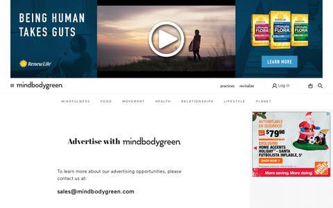 Advertise With Us - mindbodygreen - mindbodygreen