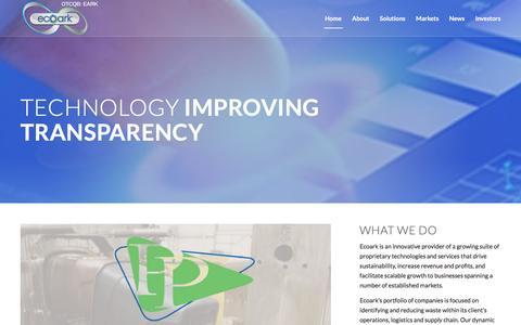 Screenshot of Home Page ecoarkusa.com - EcoArk – Technology Improving Transparency - captured Dec. 6, 2016